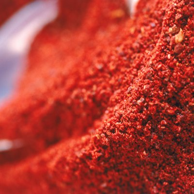 Red chilli pepper powder, full frame