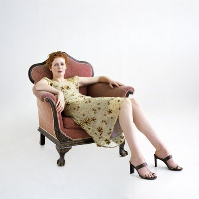 Woman slumping in a chair