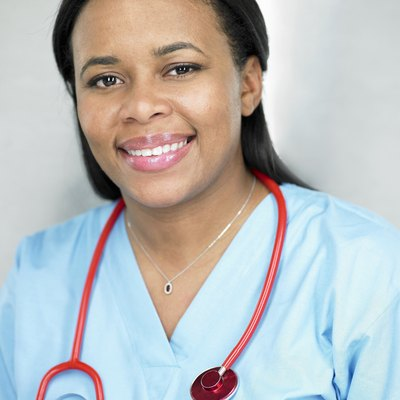Female doctor smiling, portrait