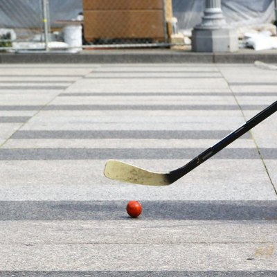 Playing roller in-line hockey in Washington
