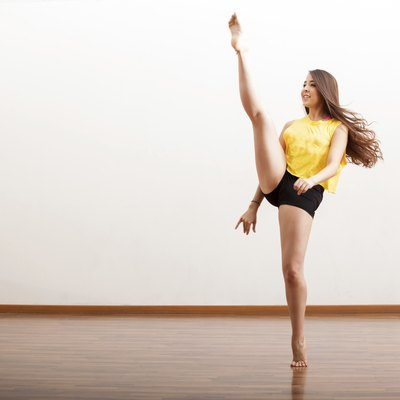 Jazz dancer performing a routine