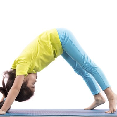 girl doing basic yoga