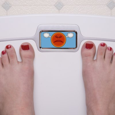Scale with Feet Emoji Mad