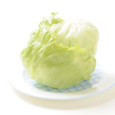 Lettuce on plate.