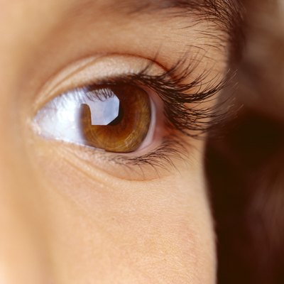 close-up of a person's eye