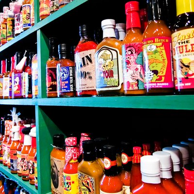 Hot sauces galore