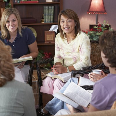 Women in Bible study group