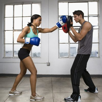 Boxers sparring