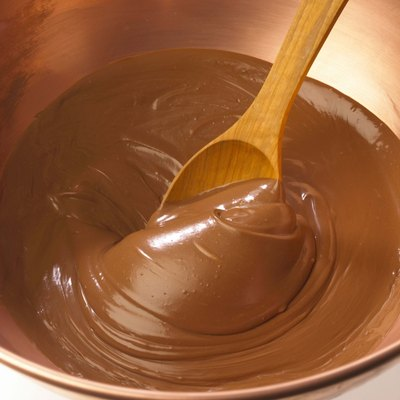 Spoon stirring chocolate