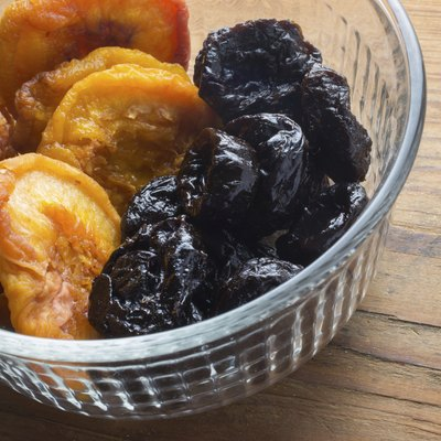 Dried fruit in dish