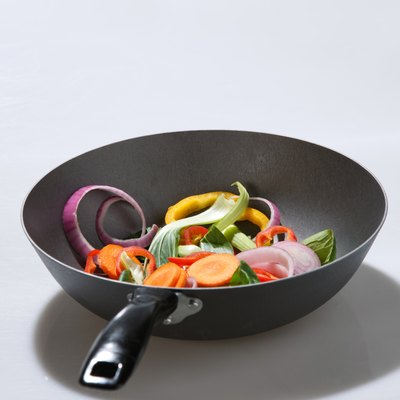 Frying pan and vegetable