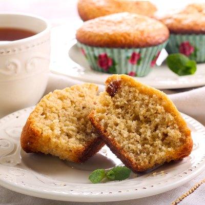 Bran and raisin muffins