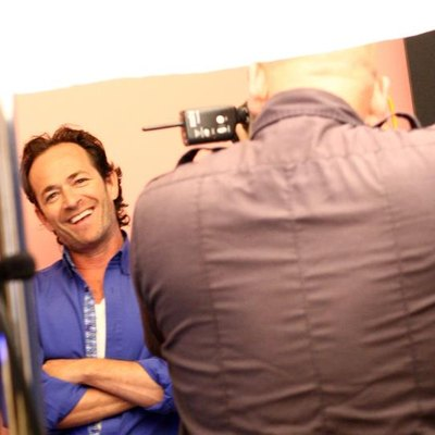 "BEVERLY HILLS, CA - JULY 30: Executive producer/actor Luke Perry of UP Entertainments ""Welcome Home"" attends the Getty Images Portrait Studio powered by Samsung Galaxy at 2015 Summer TCAs at The Beverly Hilton Hotel on July 30, 2015, in Beverly Hills, California. (Photo by Tommaso Boddi/Getty Images for Samsung)"
