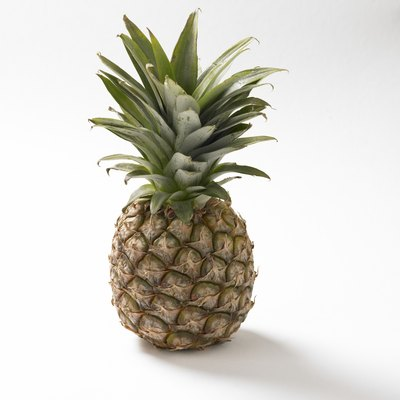 A pineapple, studio shot