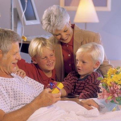 Grandparents and grandchildren in hospital