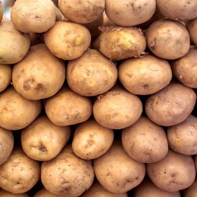 Close-up of a heap of potatoes