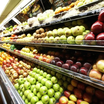 Close-up of fruit in a supermarket