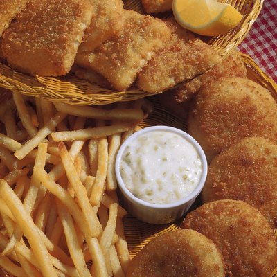Assortment of fried foods