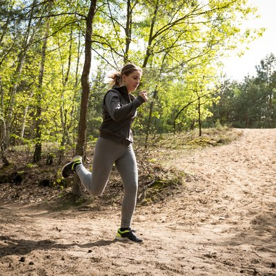 Sporty woman in the woods