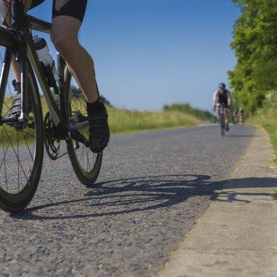 Triathlete bicycle race