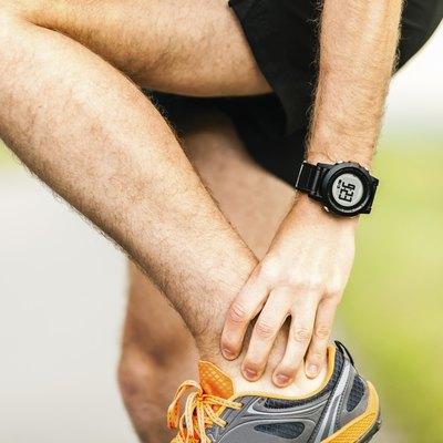 Runner injured ankle physical pain