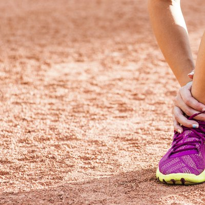 Running sport injury - twisted broken