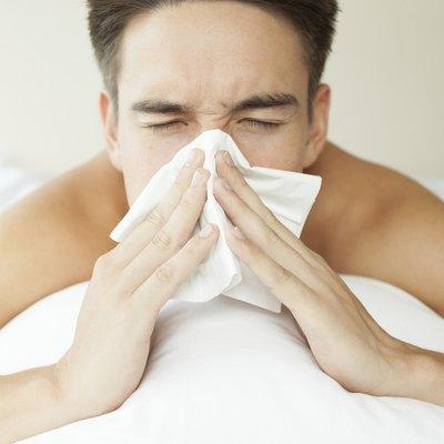 male feeling sick