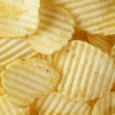 rippled organic potato chips with salt