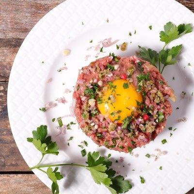 french gastronomy,steak tartare