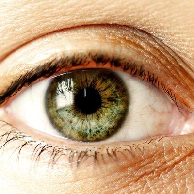 Green Human Eye Close Up
