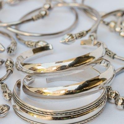 Old silver Bangle