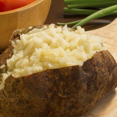 fresh hot baked potato