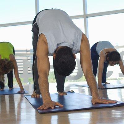 Yoga Class at Health Club