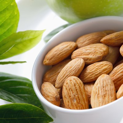 """Bowl of almonds, close-up"""