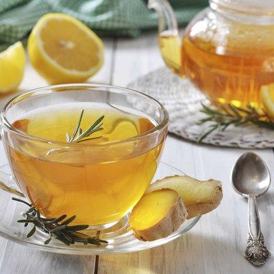 Ginger tea with lemon