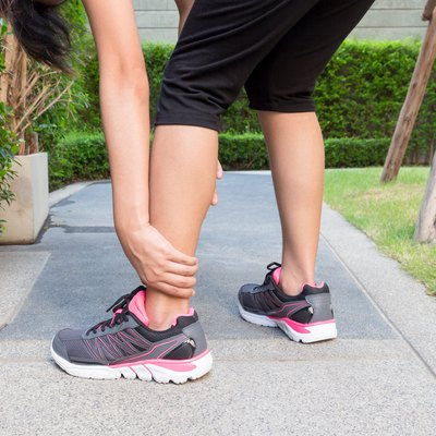 Ankle sprain while jogging or running