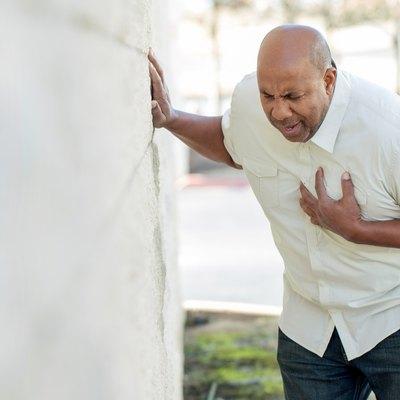 Man Having Chest Pains