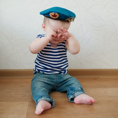 little boy in blue beret portrait