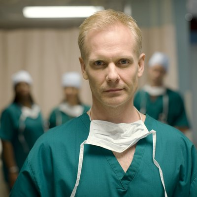 Surgeon in operating room, portrait