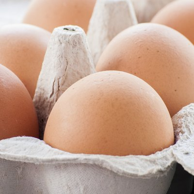 Organic eggs from pasture-raised chickens.
