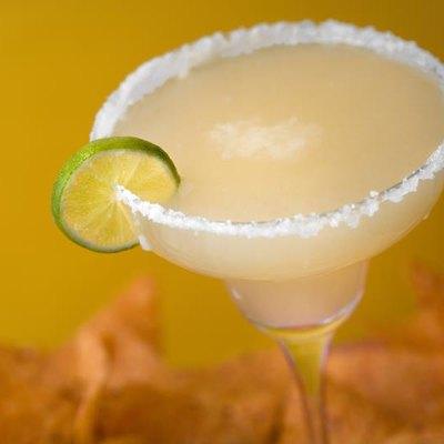 Salted tequila margarita