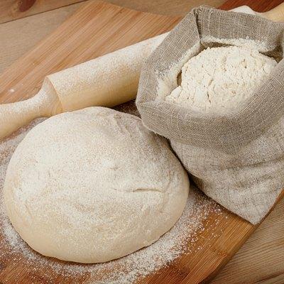 Fresh dough on the table
