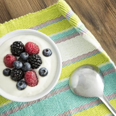 Delicious yogurt and fresh berries for breakfast