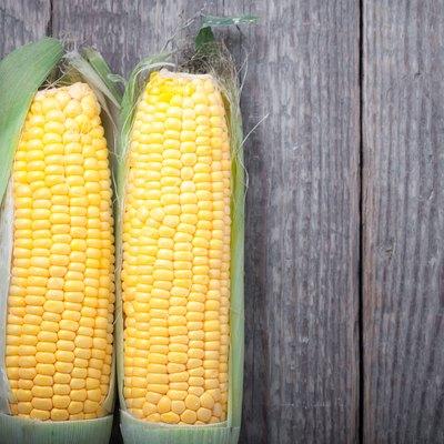 Corn on wood