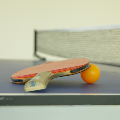 Stock Photo:  Racket for tennis and a ball