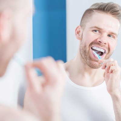 Using whitening toothpaste
