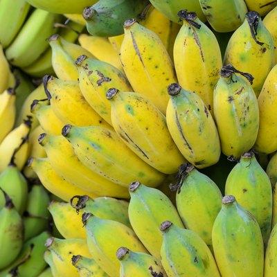 Ripe banana fruit background