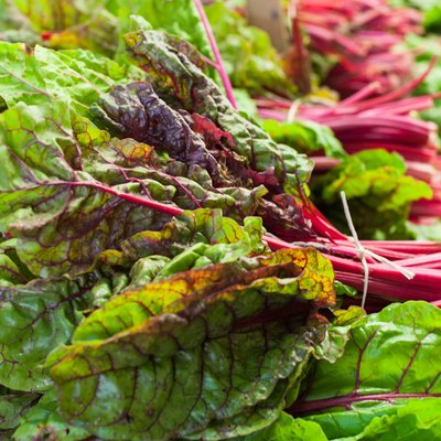Red swiss chard bunch raw and fresh