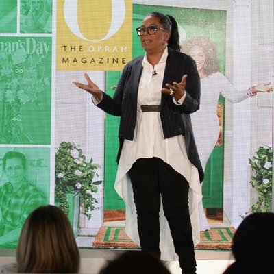 NEW YORK, NY - OCTOBER 25: Oprah speaks onstage at Hearst MagFront 2016 at Hearst Tower on October 25, 2016, in New York City. (Photo by Ben Gabbe/Getty Images for Hearst)