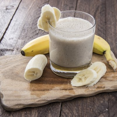 Fresh made Banana Milkshake